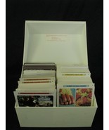 Vintage 1971 Betty Crocker Recipe Card Library  WHITE Box incomplete - $12.86