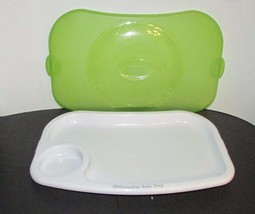 Fisher price healthy care booster seat replacement tray insert and green... - $9.99