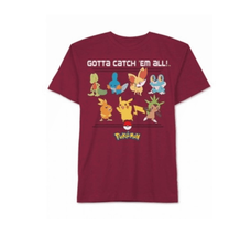 Burgundy Mens Size Large Gotta Catch 'Em All Pokemon Graphic Tee - $19.79