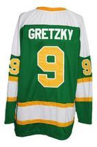 Wayne Gretzky #9 Brantford Nadrofsky Steelers Retro Hockey Jersey Green Any Size image 4