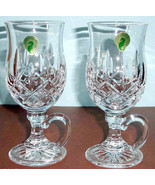 Waterford Lismore Irish Coffee Mugs Set of 2 Crystal Glasses #108068 New... - $238.90