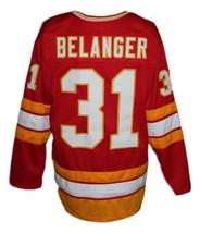 Custom Name # Atlanta Flames Retro Hockey Jersey New Red Belanger #31 Any Size  image 2
