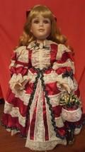 RARE Seymour Mann ASHLEY Victorian French 20 Inch Christmas Doll Porcela... - $78.99
