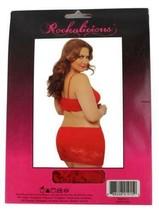NEW ROCKALICIOUS WOMEN'S STRETCH MINI SEXY LINGERIE DRESS PLUS SIZE RED #R105X image 2