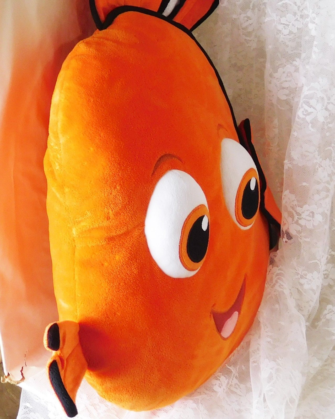 "Disney Store Plush Pillow - Extra Large Nemo from Finding Nemo - 20"" x 20"" x 2"""