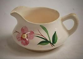 Old Vintage Milk Creamer w Pink Floral Design Replacement Unknown Maker MCM - $14.84