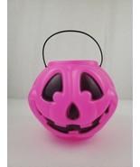 PINK General Foam Plastics Pumpkin Candy Pail Blow Mold Bucket Vintage H... - $26.99