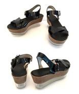 AGL Attilio Giusti Leombruni Platform Wedge Sandals - Lucite 36-6 - $165.00