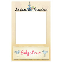 Baby Boy Hanging Baby Shower Selfie Frame Photo Booth Prop Poster - $16.34+