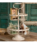 Old Country Two Tiered Wire Basket with Handle - $79.99