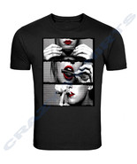 """Blunt Roll Red Lips """" UNISEX T-SHIRT """" Hot Girl Rolling Blunt Roll Up We... - $9.40+"""