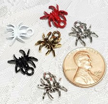 SPIDER FINE PEWTER PENDANT CHARM - 11x13x2mm image 2