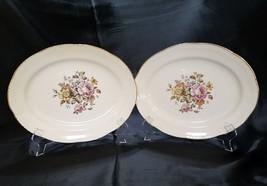 Vtg Homer Laughlin Stratford (Liberty Shape) Set of 2 Oval Platters, circa 1950s - $27.00