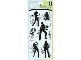 Inkadinkado In the Groove Clear Stamp Set #98997
