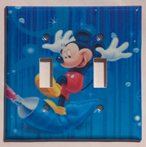 Mickey Mouse Color Painting Light Switch Outlet wall Cover Plate Home Decor image 2