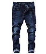 Heart Yuxuan Men's Slim Jeans, Fashion Stretch Skinny Jeans. 30, 15- Blue - $24.95