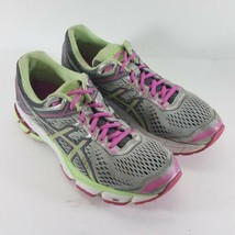 Asics GT 1000 womens size 8.5 M Running Shoes Green White Sneakers T5B5N - $28.87