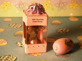 Deluxe Milk Chocolate Easter Egg/Bunny Display Box w/ Bow for Dollhouse ... - $8.99