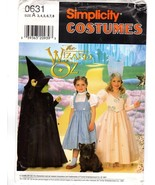 Simplicity 7801/0631 The Wizard of Oz Dorothy Witch Halloween Costumes S... - $15.47