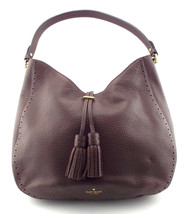 KATE SPADE Brown Pebble Hobo Shoulder Bag w/ Tassel - $174.00