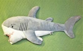 "SHARK WEEK 37"" GREY STUFFED ANIMAL FISH GREAT WHITE DAN DEE PLUSH DISCOV... - $32.73"