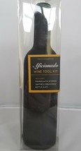 Wine Tool Kit Two's Company Aficionado BLACK Stopper Corkscrew Wedding G... - $9.40