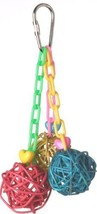 SMALL SUPER BIRD CHRATIONS 51/2 BY 2 INCH MINI VINE CHAIN BIRD TOY - £11.44 GBP