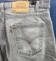 Levis 560 Holgado Shorts Vaqueros Lavado Negro 37x11 Naranja Tab Eua Vintage - $16.84