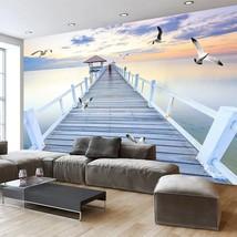 "3D Wallpaper ""Wood Bridge and Sea View"" - $35.00+"