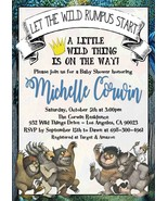 Where the Wild things Are Baby Shower invitation, Gender Neutral invitation - $9.99+