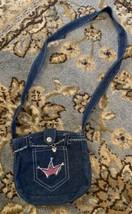 Walt Disney World Clip Charm Denim PURSE Princess Crown  - $14.01
