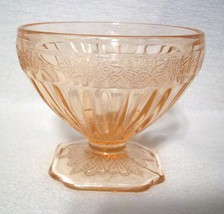 """ADAM Pink 3"""" Footed Sherbet Dish Depression Glass Jeannette Glass Company  - $18.47"""