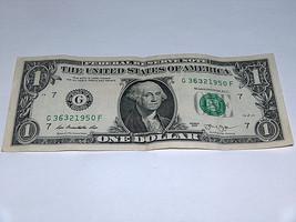 2013 $1 Dollar Bill US Bank Note Date Year Birthday 3632 1950 Fancy Mone... - $12.68