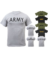 US Military PT T-Shirt Physical Training Tactical Workout Exercise Gym R... - $9.99+