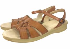 SAS Tripad Comfort Huarache Sandals Womens 10.5 S Narrow Strap Brown Wal... - $77.31