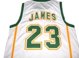 Lebron James #23 Irish High School Custom Basketball Jersey White Any Size image 2