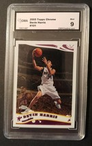 2005 Topps Chrome #101 Devin Harris Graded GMA 9 Mavericks Nets Nuggets ... - $0.94