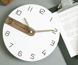 Moro Design Real Wood Nine Wall Clock non Ticking Silent Modern Clock (Classic) image 5