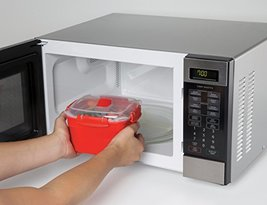 Sistema Microwave Cookware Steamer , Small, 50 Ounce/ 5.9 Cup, Red - £11.54 GBP