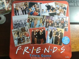 FRIENDS Trivia Board Game Red Tin Picture Cards 2003  NEW - $15.99