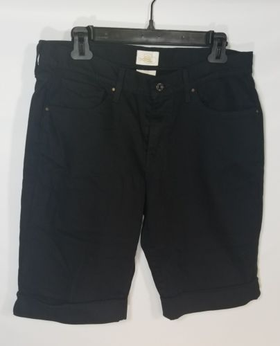 LEVI STRAUSS & CO WOMEN'S 515 BERMUDA BLACK JEAN SHORTS SAN FRAN COTTON SIZE 8