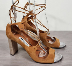Jimmy Choo Vernie Lace-Up Sandal Canyon Suede Womens Size 10  / 40 - $127.49