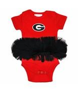NCAA Georgia Bulldogs Circle G Logo Red Black Tutu Creeper #245 Two Feet... - $27.99