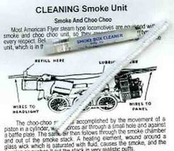 SMOKE UNIT CLEANING KIT for AMERICAN FLYER STEAM ENGINE TRAINS Parts - $19.99