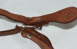 Unbranded Brown Youth Leather Spur Straps Adjustable Silver Color Buckles image 4