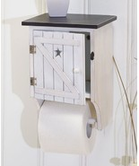 Outhouse Toilet Paper Holder Spare Tissue Roll Storage Shelf Rustic Bath... - $20.49