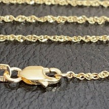 "14 k Solid Yellow Real Gold 1.25mm Sparkle Singapore Chain Necklace 16"",... - $136.62+"