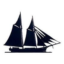 Whitehall Products Schooner Plaque, Black - $38.97