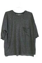 Zara Trafaluc Charcoal Gray Boxy Top  Size L NEW Super Soft Spring/Summe... - $44.00