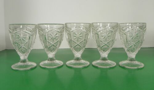 Primary image for Imperial Glass Ohio Mogul Variant Clear Wine Goblet (s) LOT OF 5